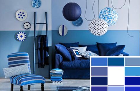 Синий цвет: прохлада в вашем доме