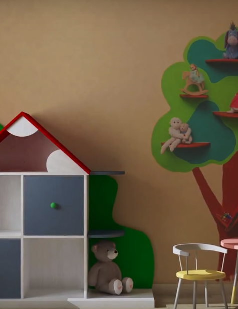 Уютная детская комната легко и просто
