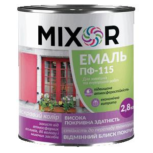 Эмаль для наружных и внутренних работ ПФ-115 Mixor