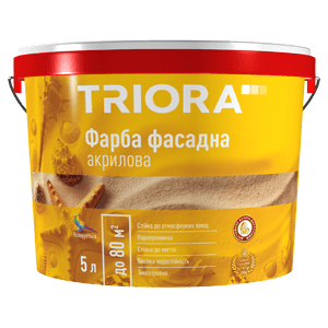 Краска фасадная акриловая TRIORA