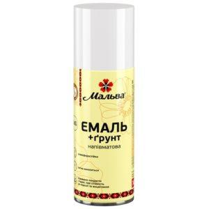 Эмаль-грунт 2 в 1 в аэрозольной упаковке Мальва