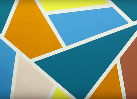 """Как покрасить стену в несколько цветов """"Геометрическая фантазия"""""""