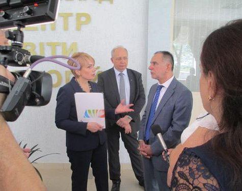 Министр образования и науки Украины Лилия Гриневич побывала в Учебных центрах «КНАУФ» и «TRIORA»
